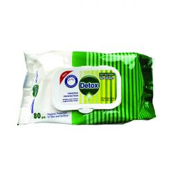 Cheap Stationery Supply of Detox Antibacterial Wipes Pine (Pack of 80) Detox 80 Pine Office Statationery