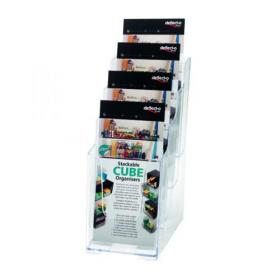 Deflecto 4 Tier Literature Holder 1/3 A4 77701