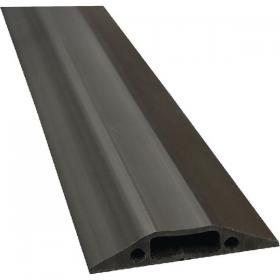 D-Line floor Cable Cover Black 80mm Wide 1.8m length c/w connectors FC83B