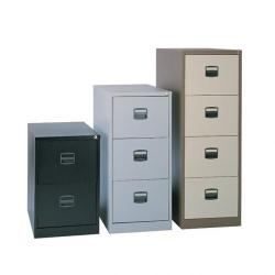 Cheap Stationery Supply of Steel 4 drawer contract filing cabinet 1321mm high - goose grey Office Statationery
