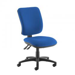 Cheap Stationery Supply of Senza high back operator chair with no arms - blue Office Statationery