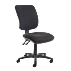 Cheap Stationery Supply of Senza high back operator chair with no arms - charcoal Office Statationery