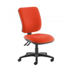 Cheap Stationery Supply of Senza high back operator chair with no arms - Tortuga Orange Office Statationery