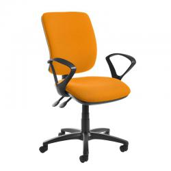 Cheap Stationery Supply of Senza high back operator chair with fixed arms - Solano Yellow Office Statationery