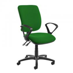Cheap Stationery Supply of Senza high back operator chair with fixed arms - Lombok Green Office Statationery