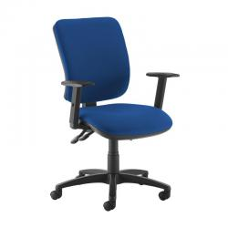 Cheap Stationery Supply of Senza high back operator chair with adjustable arms - blue Office Statationery