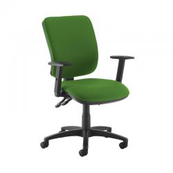 Cheap Stationery Supply of Senza high back operator chair with adjustable arms - Lombok Green Office Statationery
