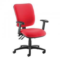 Cheap Stationery Supply of Senza high back operator chair with folding arms - red Office Statationery