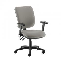 Cheap Stationery Supply of Senza high back operator chair with folding arms - Slip Grey Office Statationery