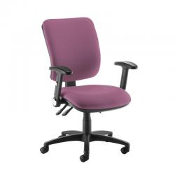 Cheap Stationery Supply of Senza high back operator chair with folding arms - Bridgetown Purple Office Statationery