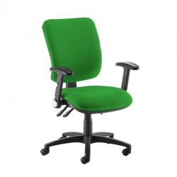 Cheap Stationery Supply of Senza high back operator chair with folding arms - Lombok Green Office Statationery