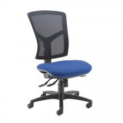 Cheap Stationery Supply of Senza high mesh back operator chair with no arms - blue Office Statationery