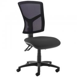 Cheap Stationery Supply of Senza high mesh back operator chair with no arms - black Office Statationery