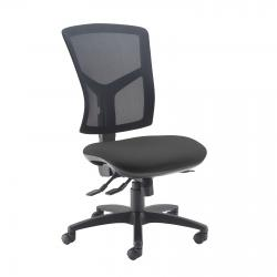 Cheap Stationery Supply of Senza high mesh back operator chair with no arms - charcoal Office Statationery