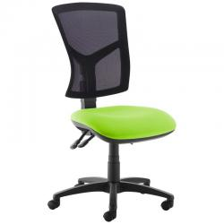Cheap Stationery Supply of Senza high mesh back operator chair with no arms - green Office Statationery
