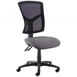 Cheap Stationery Supply of Senza high mesh back operator chair with no arms - Blizzard Grey Office Statationery