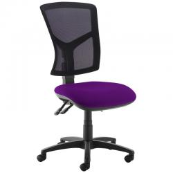 Cheap Stationery Supply of Senza high mesh back operator chair with no arms - Tarot Purple Office Statationery