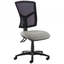 Cheap Stationery Supply of Senza high mesh back operator chair with no arms - Slip Grey Office Statationery