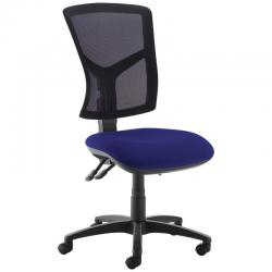Cheap Stationery Supply of Senza high mesh back operator chair with no arms - Ocean Blue Office Statationery