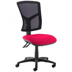 Cheap Stationery Supply of Senza high mesh back operator chair with no arms - Diablo Pink Office Statationery