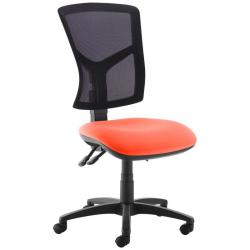 Cheap Stationery Supply of Senza high mesh back operator chair with no arms - Tortuga Orange Office Statationery