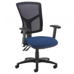 Cheap Stationery Supply of Senza high mesh back operator chair with folding arms - Costa Blue Office Statationery