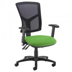 Cheap Stationery Supply of Senza high mesh back operator chair with folding arms - Lombok Green Office Statationery