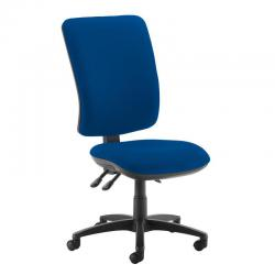 Cheap Stationery Supply of Senza extra high back operator chair with no arms - Curacao Blue Office Statationery