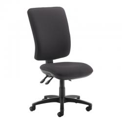 Cheap Stationery Supply of Senza extra high back operator chair with no arms - Blizzard Grey Office Statationery