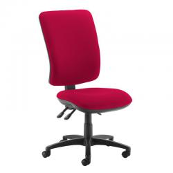 Cheap Stationery Supply of Senza extra high back operator chair with no arms - Diablo Pink Office Statationery