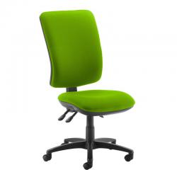 Cheap Stationery Supply of Senza extra high back operator chair with no arms - Madura Green Office Statationery