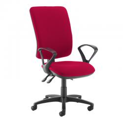Cheap Stationery Supply of Senza extra high back operator chair with fixed arms - Diablo Pink Office Statationery