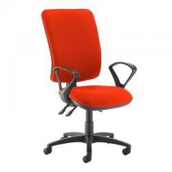 Cheap Stationery Supply of Senza extra high back operator chair with fixed arms - Tortuga Orange Office Statationery