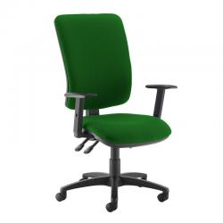 Cheap Stationery Supply of Senza extra high back operator chair with adjustable arms - Lombok Green Office Statationery