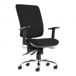 Cheap Stationery Supply of Senza ergo 24hr ergonomic asynchro task chair - black Office Statationery