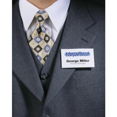 Pack of 25 Transparent Durable 811719 Name Badges