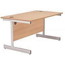 Cheap Stationery Supply of Initiative 1200mm Cantilever Rectangular Beech Office Statationery