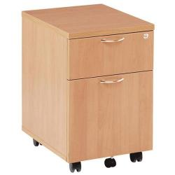Cheap Stationery Supply of Initiative 2 Drawer Mobile Pedestal Beech Office Statationery