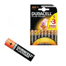 Duracell Plus Power 1.5V AAA Alkaline Battery (Pack of 8) Plus Power AAA 5