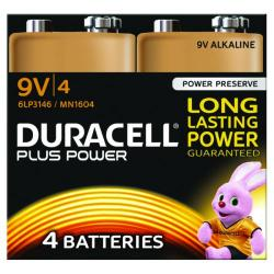 Cheap Stationery Supply of Duracell Plus Battery 9V (Pack of 4) 81275463 Office Statationery
