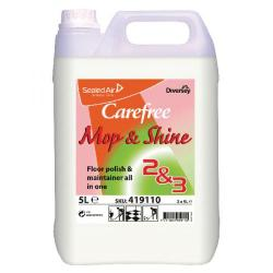 Cheap Stationery Supply of Carefree Mop and Shine Floor Polish 5 Litre (Pack of 2) 419110 Office Statationery