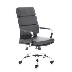 Cheap Stationery Supply of Adroit Advocate Executive Chair With Arms Bonded Leather Black BR000204 Office Statationery