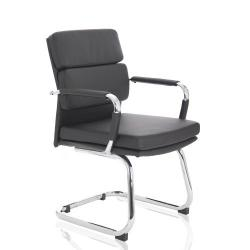 Cheap Stationery Supply of Adroit Advocate Visitor Chair With Arms Bonded Leather Black BR000206 Office Statationery