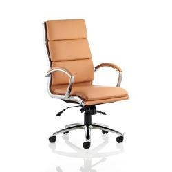 Cheap Stationery Supply of Adroit Classic Executive Chair With Arms High Back Tan EX000008 Office Statationery