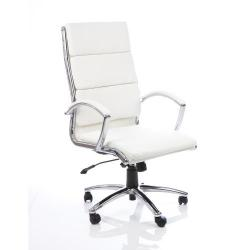 Cheap Stationery Supply of Adroit Classic Executive Chair With Arms High Back White EX000009 Office Statationery