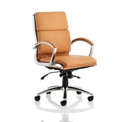 Cheap Stationery Supply of Adroit Classic Executive Chair With Arms Medium Back Tan EX000011 Office Statationery