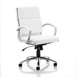Cheap Stationery Supply of Adroit Classic Executive Chair With Arms Medium Back White EX000012 Office Statationery