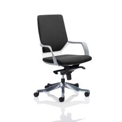 Cheap Stationery Supply of Adroit Xenon Executive With Arms Medium Back White Shell Fabric Black EX000094 Office Statationery