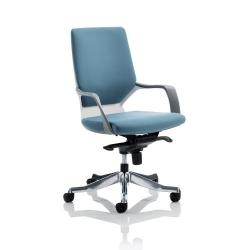 Cheap Stationery Supply of Adroit Xenon Executive With Arms Medium Back White Shell Fabric Blue EX000096 Office Statationery