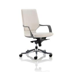 Cheap Stationery Supply of Adroit Xenon Executive With Arms Medium Back White Shell Leather White EX000099 Office Statationery